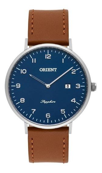 Relógio Orient Masculino Slim Safira Mbscs008 D2mx
