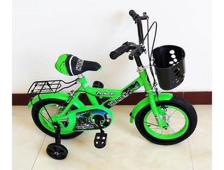 Bicicleta Rin 12 Para Niño Niña Frozen Avengers Hulk Nueva