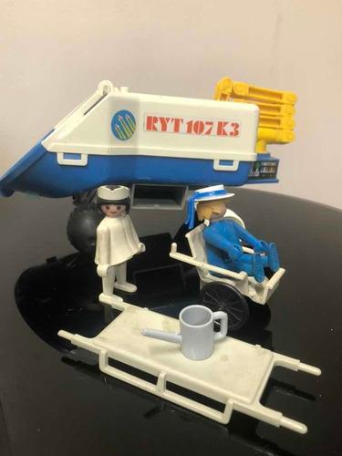Playmobil Vintage Lote De Partes Space Enfermera Etc Partes
