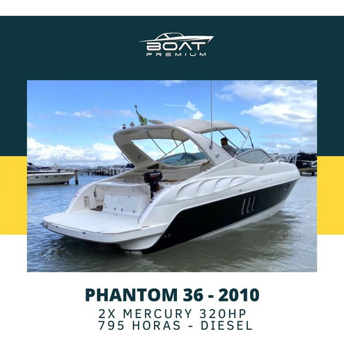 Imagem 1 de 6 de Phantom 36, 2010, 2x Mercury 320hp - Coral - Real - Triton