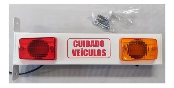 Sinalizador De Garagem Sonoro Led + 1 Placa Temporizadora