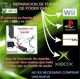 Turno Fuente Original Xbox Slim Fat 360 Reparacion En 30min