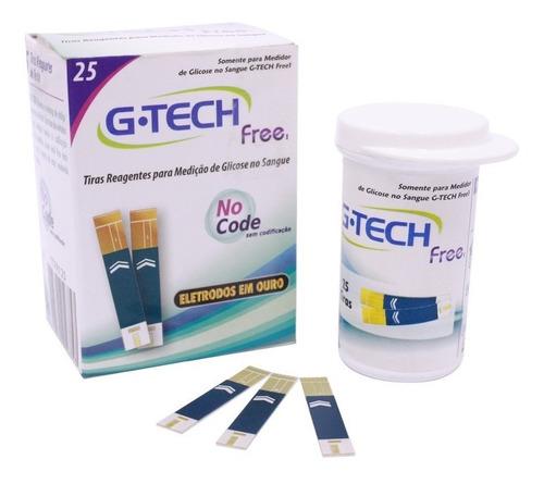 Tiras Reagentes G-tech Free 25 Tiras