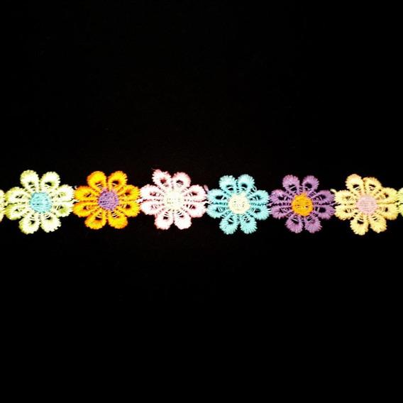 Ack-13368 Galón Floreado De Colores De 20mm Por 41,1mts