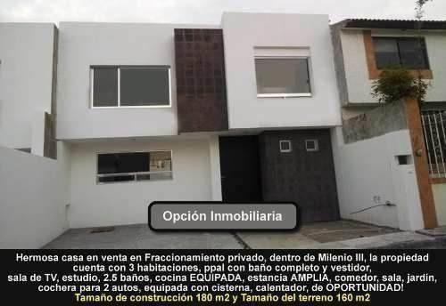 Hermosa Casa En Venta En Fraccionamiento Privado, Dentro De