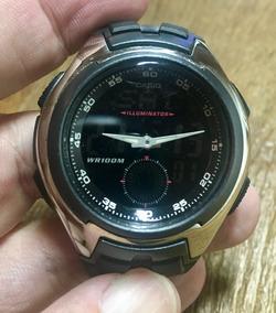 Relógio Casio Ana-digi Aq160 W-1bv - Aço Inox - Wp 100m