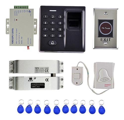 Imagen 1 de 6 de 1 Pc De Timbre De Puerta 500 Usuarios Huella Digital 10