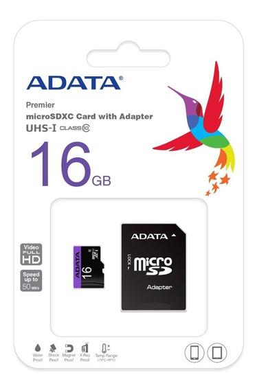 Memoria Micro Sd Hc Uhs-i 16gb Adata Clase 10 Ultra Mobile