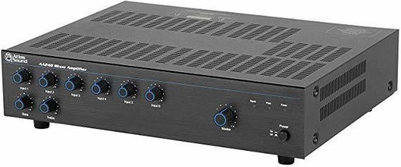 Amplificador Atlas Sound Aa240 Mixer 240 Watt 6 Channel Br ®