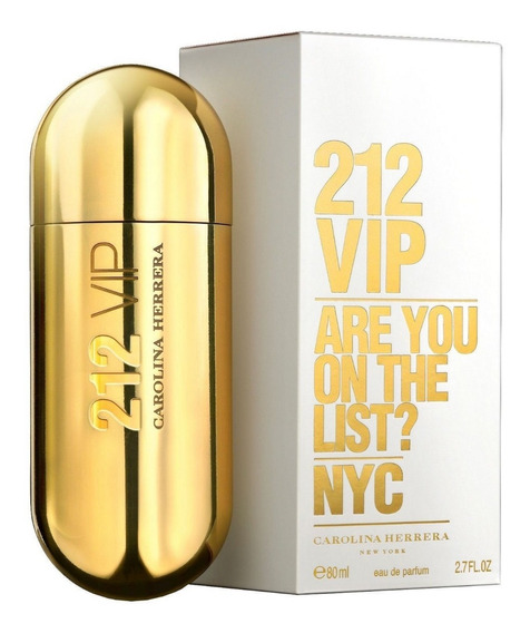Perfume Importado 212 Vip Nyc Carolina Herrera Edp 80ml