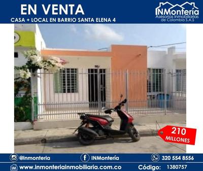 Se Vende Casa Y Local Barrio Santa Elena Etapa 4