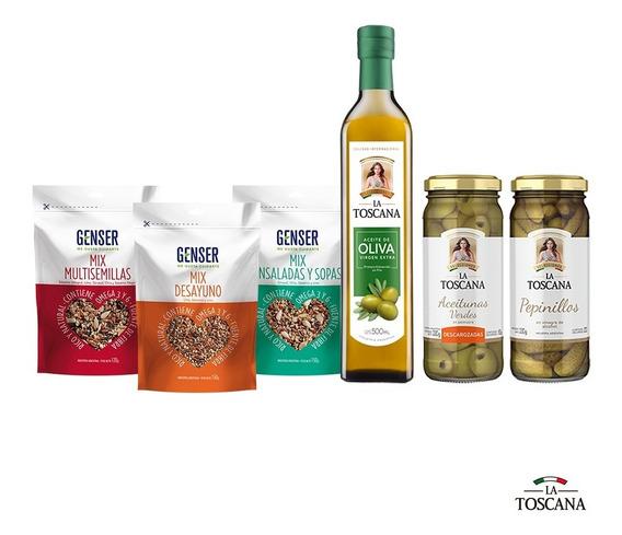 De Regalo Semillas + Aceite Oliva + 6 Aceitunas/conservas