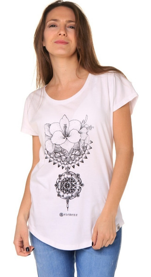 Remera M/c Element In Sight Tee White Mujer
