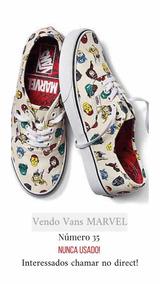 Tênis Vans Marvel, Número 35, Nunca Usado