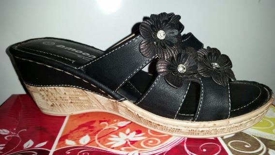 Zuecos Sandalias Negro, Mujer