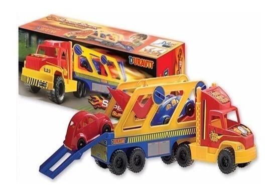 Duravit Camión Fuego Transporte Con 2 Autos 214