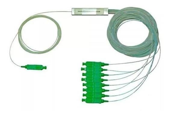 10 Splitter 1x8 0.9mm Sm L1m Sc-apc Mod. Plc Conectorizado