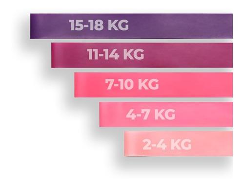 Imagem 1 de 5 de Kit Mini Bands Faixa Elástica Funcional Rosa
