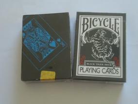 2 Baralhos= Bicycle Black Tiger + Preto Azul Ilusionista