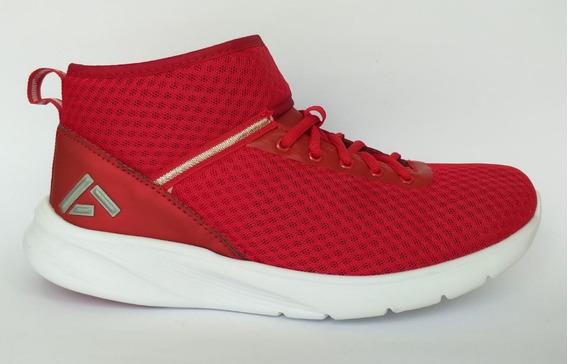 Tenis Rojo Tipo Botín Con Agujeta Y Velcro Marca Andrea