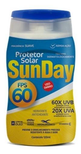 Protetor Solar Fps 60 Nutriex Sunday