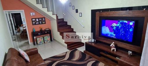 Sobrado Com 3 Dormitórios À Venda, 127 M² Por R$ 480.000,00 - Jardim Hollywood - São Bernardo Do Campo/sp - So1095