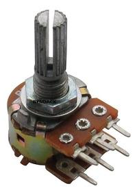 10 Peças * Potenciômetro Linear Duplo 10k L20 - Mini