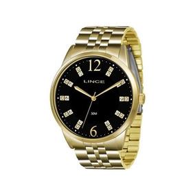 Relógio Lince Feminino Dourado Lrgj044l P2kx