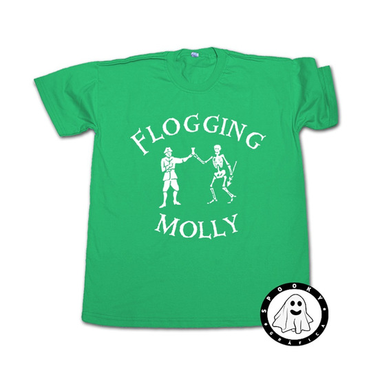 Remera Flogging Molly Skeleton Algodon Unisex Irish Punk