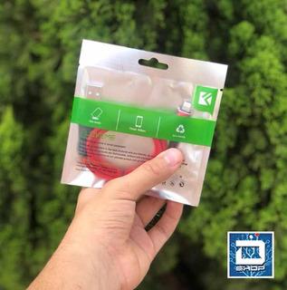 Cabo Para iPhone Super Resistente Floveme Vermelho
