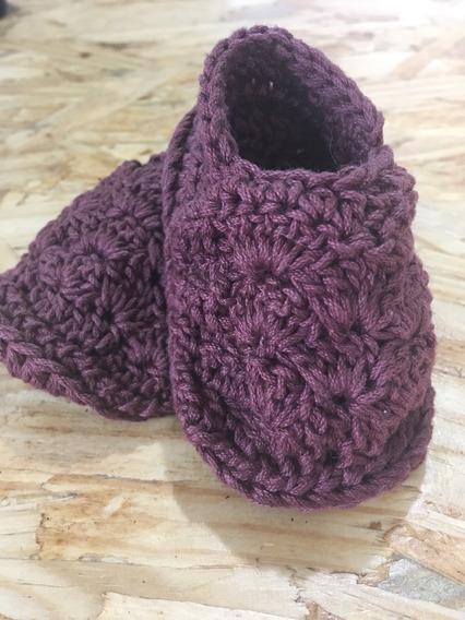 Vintage Booties Shell - Patucos Para Bebe Tejido Crochet