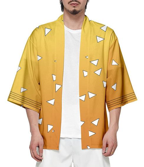 Hombres Mujeres Impreso Kimono Kamado Cosplay Cardigan