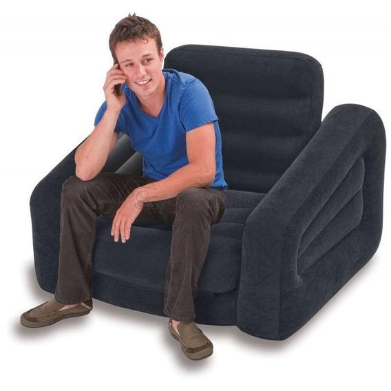 Sofá Cama Inflável Intex Aveludado 100kg 2x1 - Cadeira