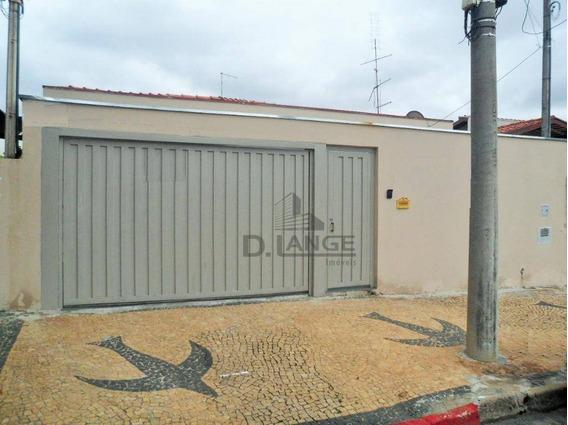 Casa Térrea Com 200 M² - Jardim Nova Europa - 3 Dormitórios, 1 Suíte À Venda, Campinas/sp - Ca13819