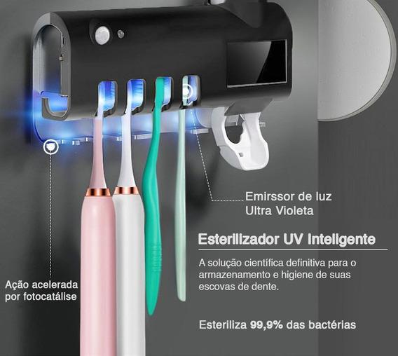 Porta Escova De Dentes Esterilizador Uv/ Led / Solar