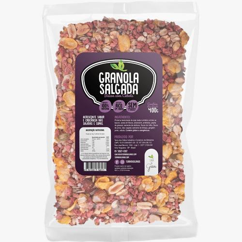 Granola Salgada Bacon Com Cebola - 400g