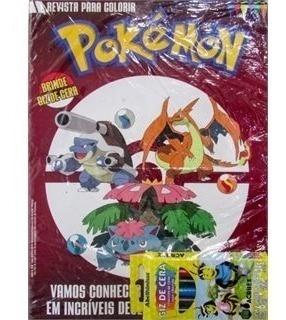 Pokemon Revista Para Colorir Com Giz De Cera - On Line