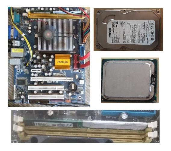 Kit Placa Mãe Asrock N61p-s + Sempron 3000 + 2gb + Hd 80 Gb