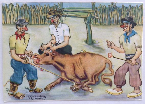Postal Gauchesca La Yerra Menenez Came 1950