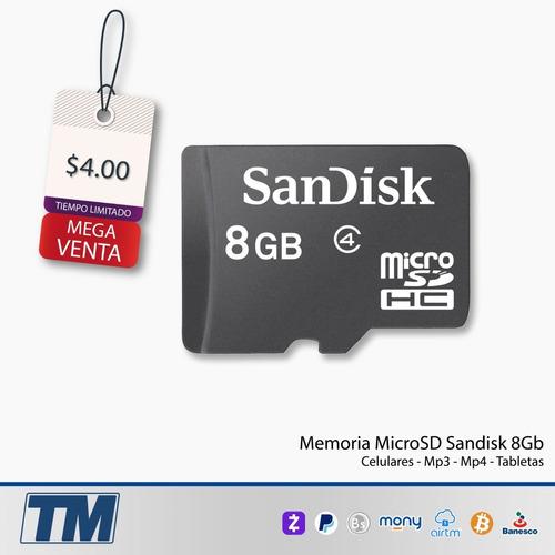 Tarjeta Micro Sdhc 8gb Sandisk Te Sorprenderás Del Precio!