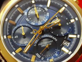 Bulova Precisionist. Azul Dourado