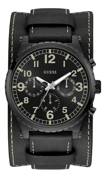 Relógio Masculino Guess Couro Cronógrafo 92735gpgtpc2z C/ Nf