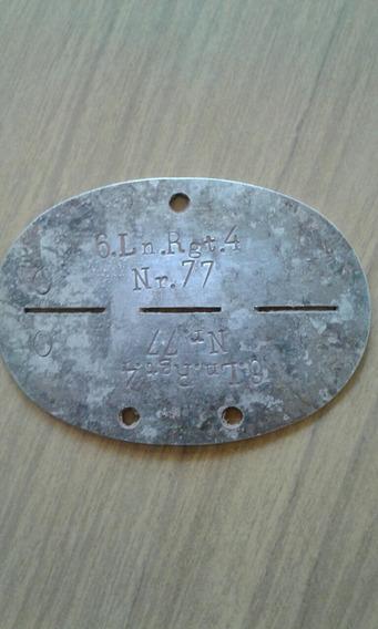 Chapa De Identificacion Soldado Aleman Ww2