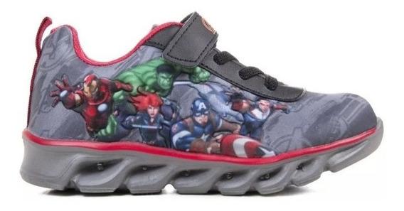 Zapatillas Marvel Original Avengers Con Luz Fty Calzados!