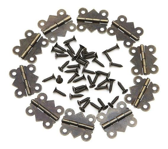 Mini Dobradiças 20x17mm Kit 50 Un Caixa Mdf, Artesanato