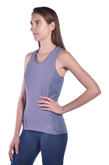 Playera Slim Fit adidas Morado Cg1117 Mujer