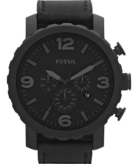 Relógio Fossil Masculino Jr1354 Couro Preto Novo Original Nf