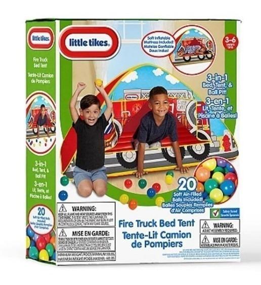 Carpa Little Tikes Fire Truck Bed Teepe Juguete Niño Niña