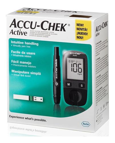 Glucómetro Accu Chek Active Kit Completo Medidor Glucosa