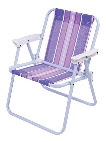 Cadeira Infantil De Praia Menina Dobrável Mor Aço